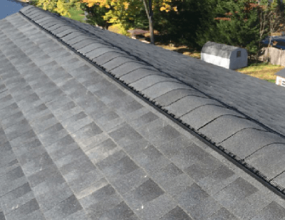 Ridge Vent On Shingled Roof