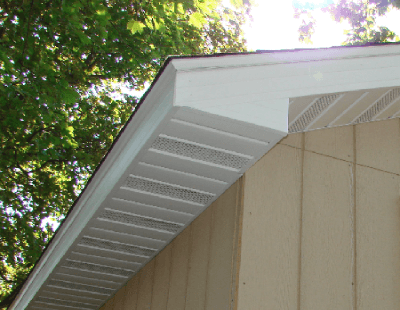 Example Of Soffit With Builtin Ventilation