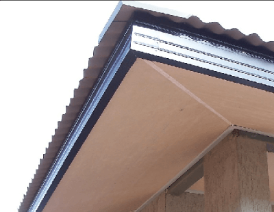 Incomplete Wooden Soffit