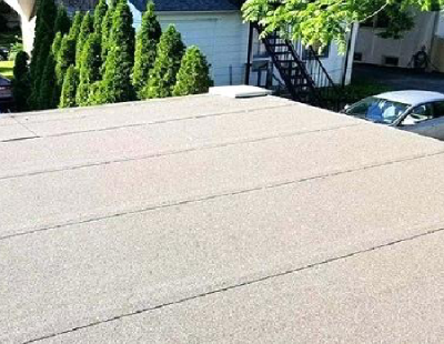 Example Of Flat Roof Peel And Stick