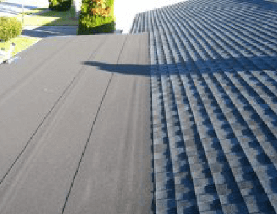 Rolled Roofing Installed With Shingles