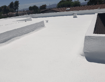 Completed Spray Foam Roofing