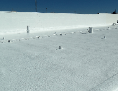 SPF Roofing Installed On Flat Roof