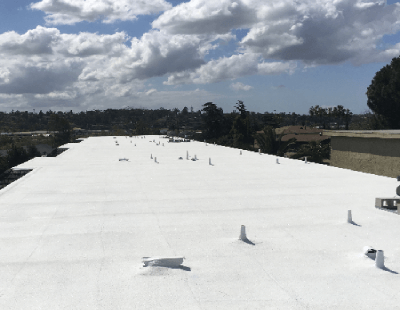 SPF Roofing Topcoat Installation