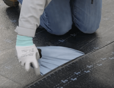 Remove Release Paper Of Roofing Material