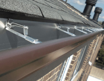 Installed Gutter Apron Example